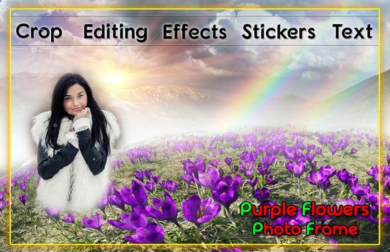 Purple Flower Photo Frames 스크린샷 1