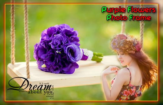 Purple Flower Photo Frames स्क्रीनशॉट 2