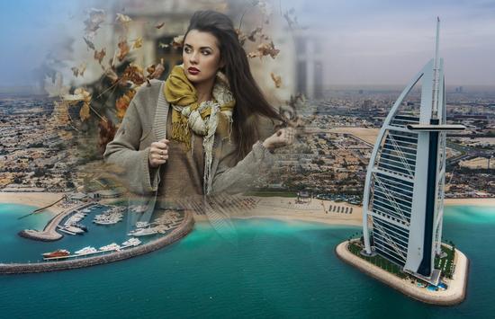 Dubai Photo Frame poster