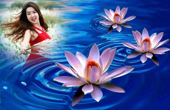 Lotus Photo Frame poster