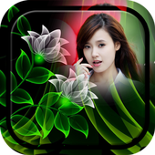 Neon Flower Photo Frame icon