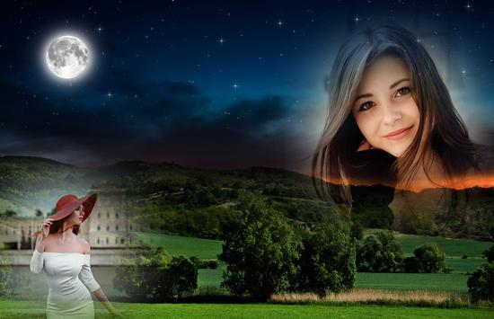 Night Sky Photo Frame poster