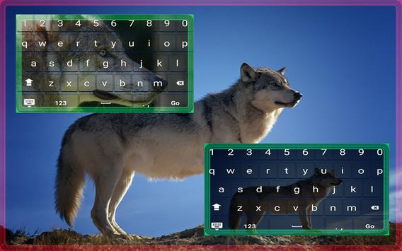 Wild Wolf Animated Keyboard poster