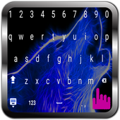 Sky Night Blue Wolf Keyboard icon