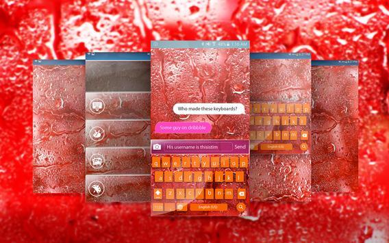 Red raindrops kika keyboard poster