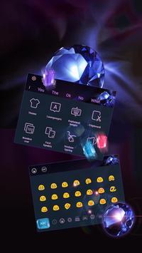 Crystal Diamonds Keyboard apk screenshot