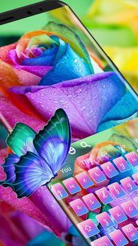 Colorful Rose Keyboard poster