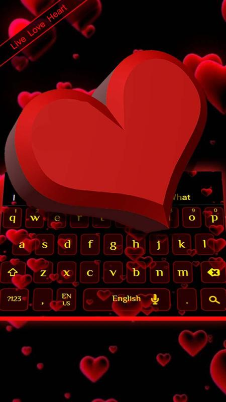 60D Cool Love Heart Keyboard Theme For Android APK Download Custom Heart Cool Love