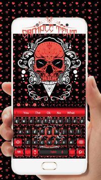 Cool Skull Keyboard Theme screenshot 1