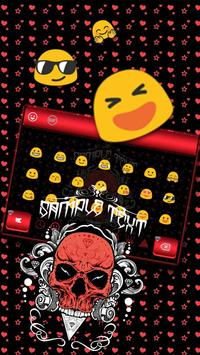 Cool Skull Keyboard Theme screenshot 2