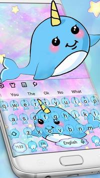 Cute Unicorn Whale poster