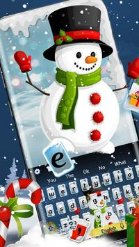 Cute Christmas Snowman Keyboard poster