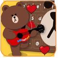 Brown Hairy Love Bear Theme