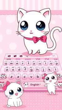 Cute Kawaii Cat Theme Keyboard poster