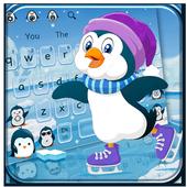Cute Penguins Keyboard Theme icon