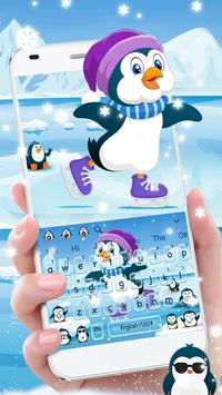 Cute Penguins Keyboard Theme poster