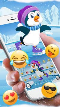 Cute Penguins Keyboard Theme apk screenshot