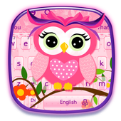 Cute Pink Owl icon