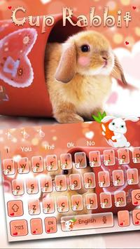 Cup Rabbit Keyboard poster