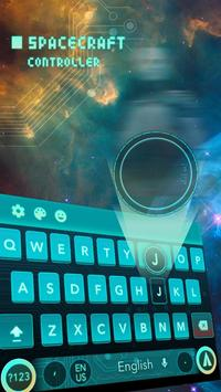 cyan green space future keyboard galaxy tech apk screenshot