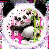 Adorable Pink Glitter Panda Keyboard Theme icon