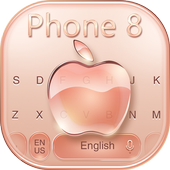 Keyboard for Phone 8 Gold icon