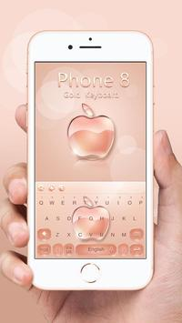 Keyboard for Phone 8 Gold poster