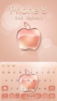 Keyboard for Phone 8 Gold screenshot 2