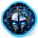 Blue Tech Metallic Skull APK