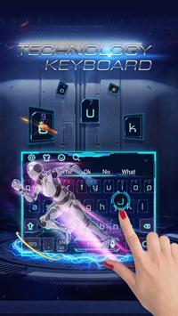 Blue Technology Robot Keyboard poster