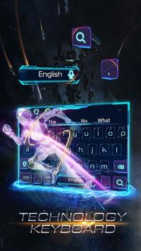 Blue Technology Robot Keyboard screenshot 2