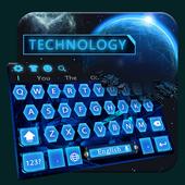 Blue Technology Keyboard icon