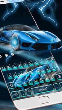 Blue Lightning Cool Car screenshot 2