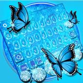 Blue Glitter Butterfly icon