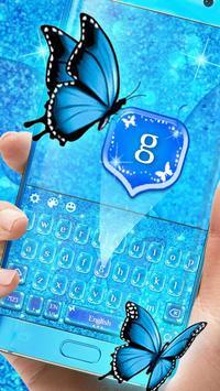Blue Glitter Butterfly screenshot 1