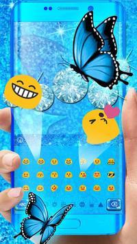 Blue Glitter Butterfly screenshot 2