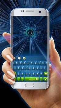 eco green blue keyboard future time travel apk screenshot