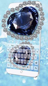 Blue Heart Diamond Keyboard poster