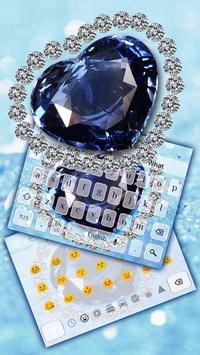 Blue Heart Diamond Keyboard screenshot 1