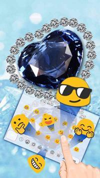 Blue Heart Diamond Keyboard screenshot 2