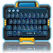 blue neon future keyboard icon