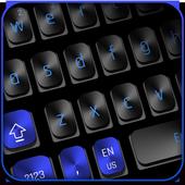 Black Blue Keyboard icon