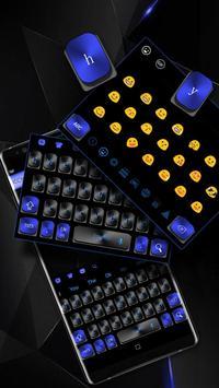 Black Blue Keyboard poster