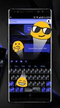 Black Blue Keyboard screenshot 2