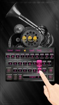 Metal Pink Light Keyboard poster