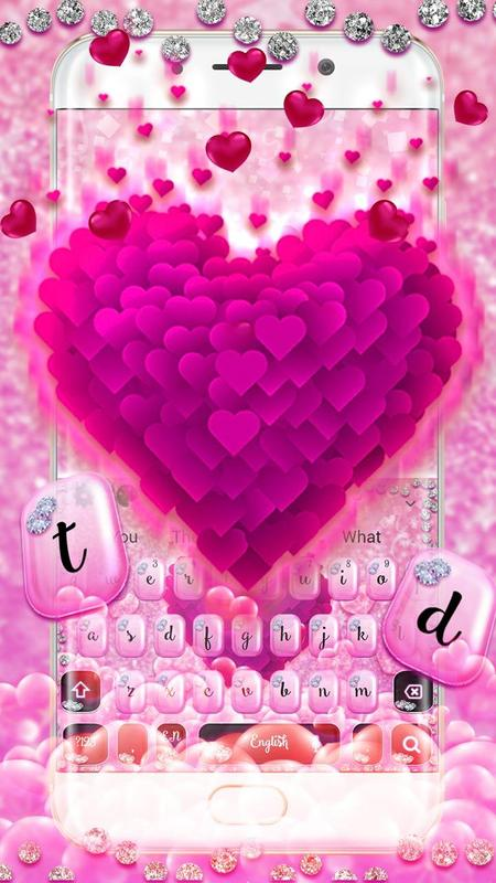 Pink Flower Heart Keyboard For Android Apk Download