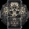 Black Rose Skull Keyboard 아이콘