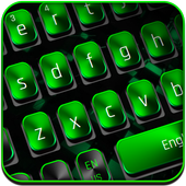 Black Green Technology Keyboard icon