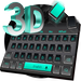 3D Black Keyboard Theme