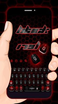 Classic Black Red Keyboard-poster